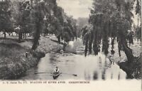 NZPC133) PC Boating on River Avon, Christchurch, New Zealand, FT Series 372,