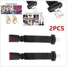 2PCS 36cm Black SUV Vehicles Car Seat Seatbelt Extender Extension Buckle Safety