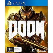 DOOM PS4 Sony PlayStation 4, 2016 Vidio Game PAL New & Sealed