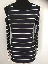 Bailey 44 NEW NWT Womens Small S Harbor Master Cold-Shoulder Knit Top Shirt Navy
