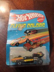 1/64 HOT WHEELS 1975 VINTAGE FLYING COLORS FORMULA P.A.C.K. #9037 BLACK WHEELS