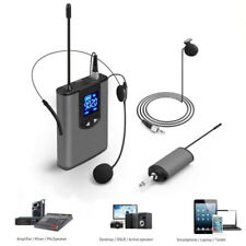 UHF Wireless Lavalier Lapel Microphone MIC System Headset Receiver Transmitter