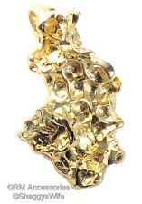 Gold Nugget Charm Pendant EP Gold Plated Jewelry with a  Lifetime Guarantee