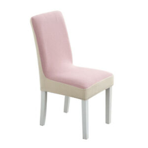Stretch Chair Cover Slipcover Home Hotel Wedding Decor Seat Cover Thick Bicolor