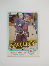 1981 O-pee-chee Rookie Card #277 Dale Hunter Quebec Nordiques