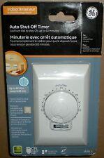 TIMER DIGITAL WALL SWITCH BATHROOM FAN 60 MINUTE AUTOMATIC SHUT OFF GE 15261 15A