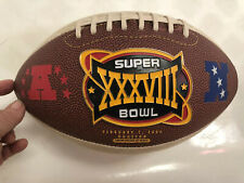 Super Bowl XXXVIII METAL EMBLEM FOOTBALL Panthers Vrs Patriots  Fotoball Sports