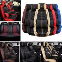 14pc PU Leather Car Seat Covers Universal 5-Seats Protectors Auto SUV Interior