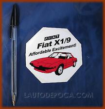 ADESIVO FIAT X 1/9 X19 BERTONE AFFORDABLE EXCITEMENT!