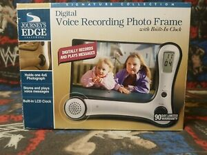 Digital Voice Recording Photo Frame With Built In Clock