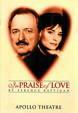 IN PRAISE OF LOVE Peter Bowles * Lisa Harrow * 1995 Apollo Souvenir Programme