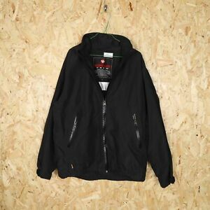 MURPHY & NYE Crew Hooded Coat Jacket Black Large L