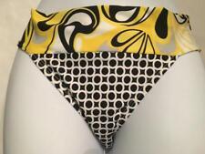 Rampage Hipster Bikini Bottom ~ Yellow/Black~ Size Small ~ M71112B8~ NWT