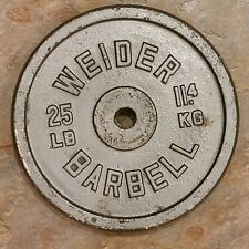 """Weider 25lb Barbell Single Weight Plate 1"""" Hole *FREE SHIP*"""