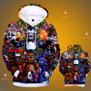 Casual Sweatshirts Anime Five Nights at Freddy's Sweater Hoodie Unisex Coat #G2