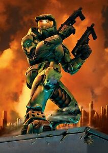 Halo, Master Chief Art Print / Poster, A4 / A3 Size