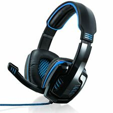 CSL PC Komfort Virtual 7.1 Gaming-Headset mit Soundkarte & Kabelfernbedienung