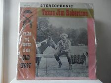 """TEXAS JIM ROBERTSON - TALES & SONGS OF THE OLD WEST - STRAND-SLS-1016 - """"SEALED"""""""