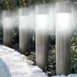 6 Lampade Giardino ricarica solare Paletti solari Tecnologia 1LED Luce Bianca