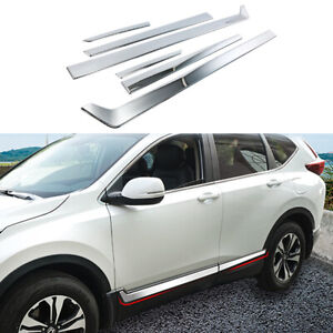 Chrome Side Door Body Cover Molding Trim Protector For Honda CR-V 5th 2017-2019