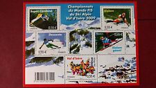 Bloc feuillet Championnats du monde FIS de ski alpin à val d'isère 2009 non plié
