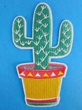 Cactus Iron On Patch Western Mexico Texas USA Rockabilly 50s Kustom Kulture Pot