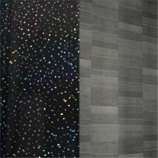 12 X Black Sparkle/Grey Small Tile Effect Wall Cladding Bathroom Panels PVC