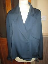 Next ladies navy blue short jacket coat size 16 eur 44 brand new with tags
