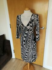 Ladies Dress Size 12 Faux Wrap Stretch Smart Casual Day Office Work