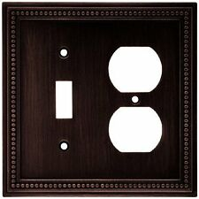 64406 Venetian Bronze Beaded Single Switch / Duplex Outlet Cover Plate