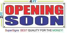 2x4 OPENING SOON Banner Sign Red White & Blue NEW Discount Size & Price