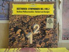 BEETHOVEN SYMPHONIEN NR. 1 & 2, KARAJAN - DGG LP 2531 101