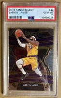 2019 Panini Select #47 LeBron James Lakers PSA 10 GEM MINT