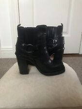 Diesel Black Gold Square Toe Ankle  boots size Uk 5  Fry Style 100% Leather