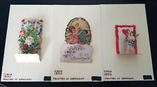 Vintage Pop Out Valentine's Day Cards (3) Circa 1890 Made in Germany.