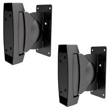 2 Wall Mount Speaker Brackets Surround Sound Stereo Mounts TV Volume Film Music