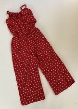 Abercrombie Kids Gorgeous RED Floral Romper Size 11-12 EEEUC