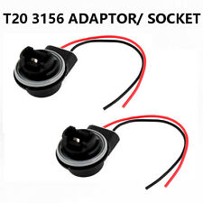 2 x 3156 T20 7440 LED Bulb Brake Indicator Light Socket Wire Adapter Replacement