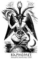 73481 BAPHOMET Occult Satan Witchcraft Black Magic Wall Print POSTER AU