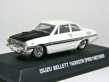 1:64 Scale Isuzu BELLETT 1600GTR(PR91W) 1969 White, Diecast Car KONAMI JAPAN