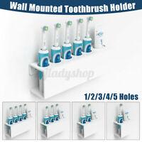 Zahnbürstenhalter Wandmontage elektrische Zahnbürste Zahnpasta Halter 1-4