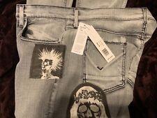 $265 Hudson Mens Jeans Blake Slim Straight  Size 38x28 USA