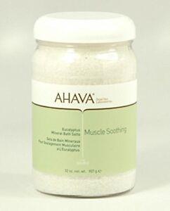 AHAVA Mineral BATH SALTS Soak Dead Sea Relaxes 32 oz!
