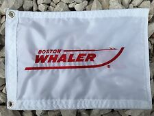 "Boston Whaler Boat White 12""x18"" Embroidered flag"