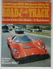ROAD and TRACK December 1974 McLaren M6GT Alfetta Fiat 124 Coupe Renault 17