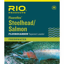 RIO FLUOROFLEX STEELHEAD/ SALMON 9' FOOT 20 LB FLUOROCARBON FLY FISHING LEADER