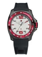 Tommy Hilfiger Men's sport white dial black silicone strap watch 1790854