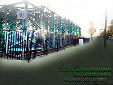 Security Fence,Tubular Fencing steel  Black Fence Panels 2100mm high