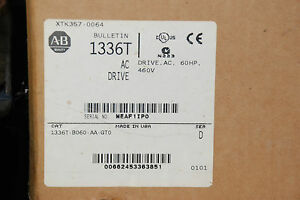 Allen Bradley 1336T-B060-AA-GTO 60HP AC Drive   NEW