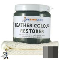 DARK GREY Leather Dye Colour Restorer for JEEP Leather Car Interiors, etc